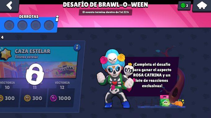 Desafío brawl-o-ween rosa brawl stars