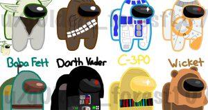 Among Us skins Star Wars