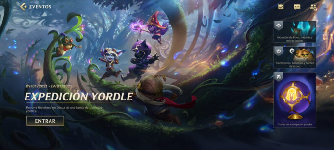 Expedición Yordle evento wild rift