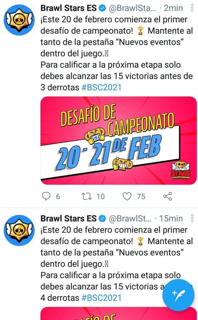 El desafío de campeonato de Brawl Stars