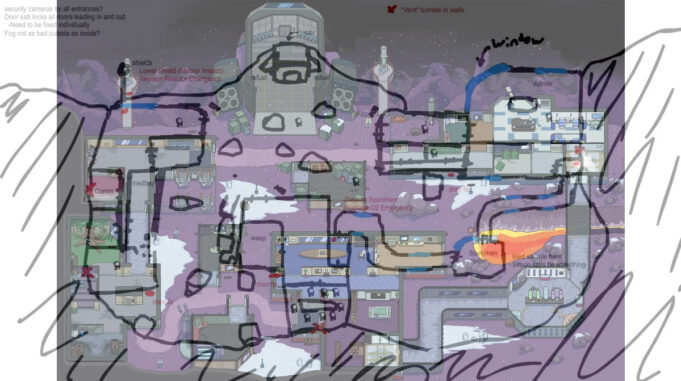 Polus mapa origen Among Us