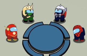 Los Vengadores en Among Us