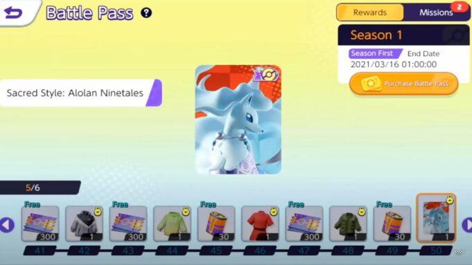El Battle Pass de Pokémon Unite