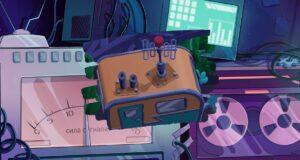 La cabina de emisión de la radio WKBRL