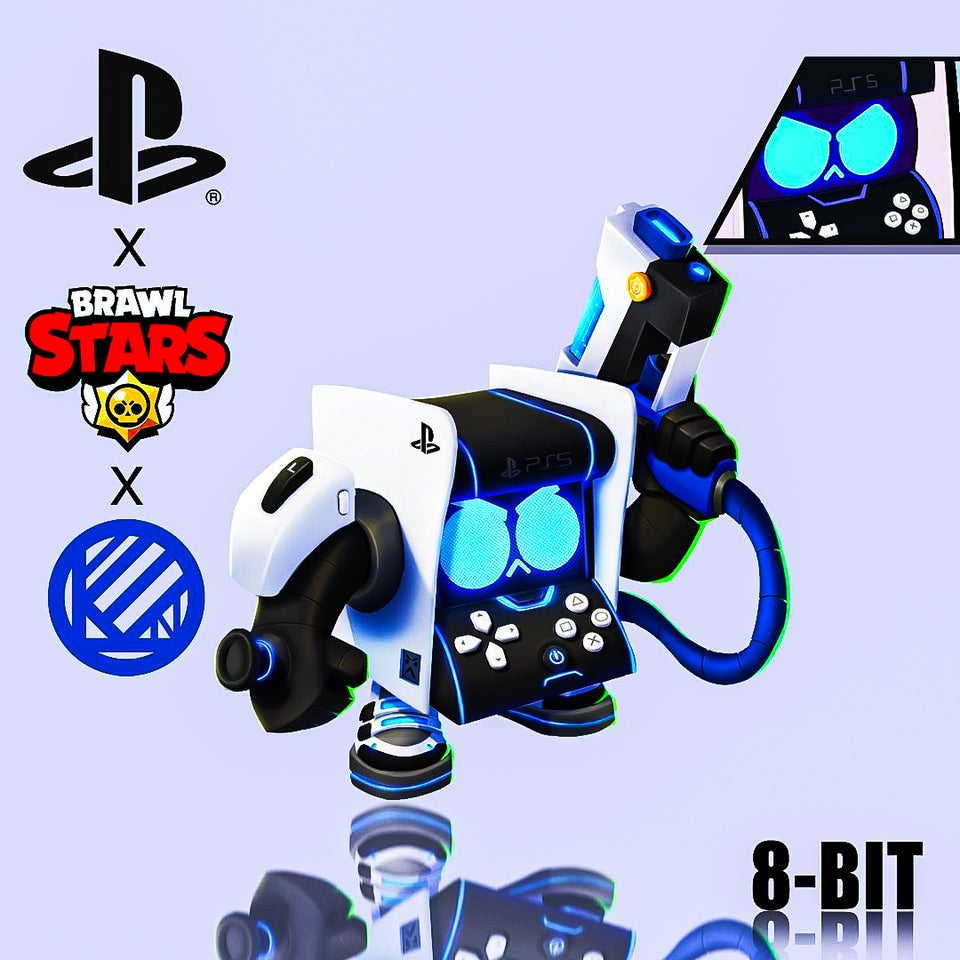 La skin PS5 de 8-bit