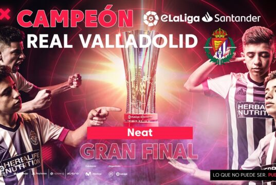 Neat, campeón con el Valladolid en eLaLiga Santander