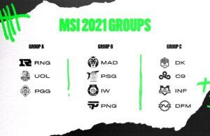 Los grupos del MSI 2020