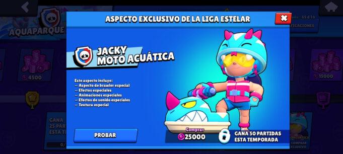 Jacky skin Liga Estelar brawl