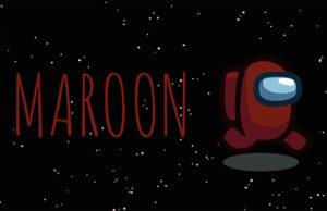 Maroon granate nuevo color among us