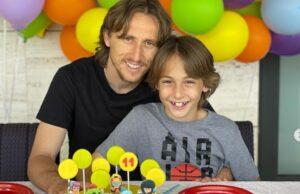 Luka Modric con su hijo, en Brawl Stars
