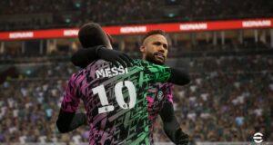Messi y Neymar en eFootball