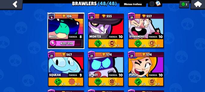 48 brawlers brawl stars