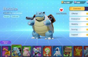 Blastoise en Pokémon Unite