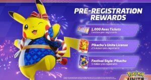 Los regalos de Pokémon Unite con Pikachu