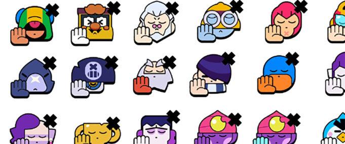 emotes pins No brawl stars