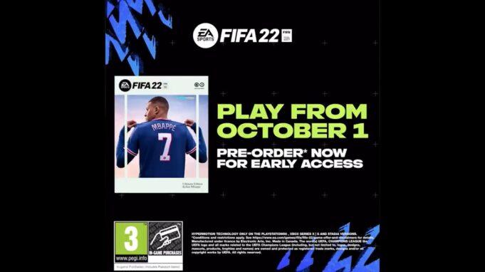 FIFA 22, a la venta el 1 de octubre
