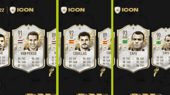 FIFA 22 FUT iconos casillas van persie cafu