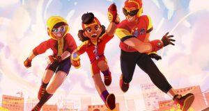 El trío de superhéroes en Brawl Stars: Max, Meg y Surge